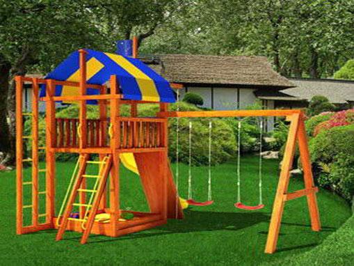 детской-площадки-в-загородном-доме